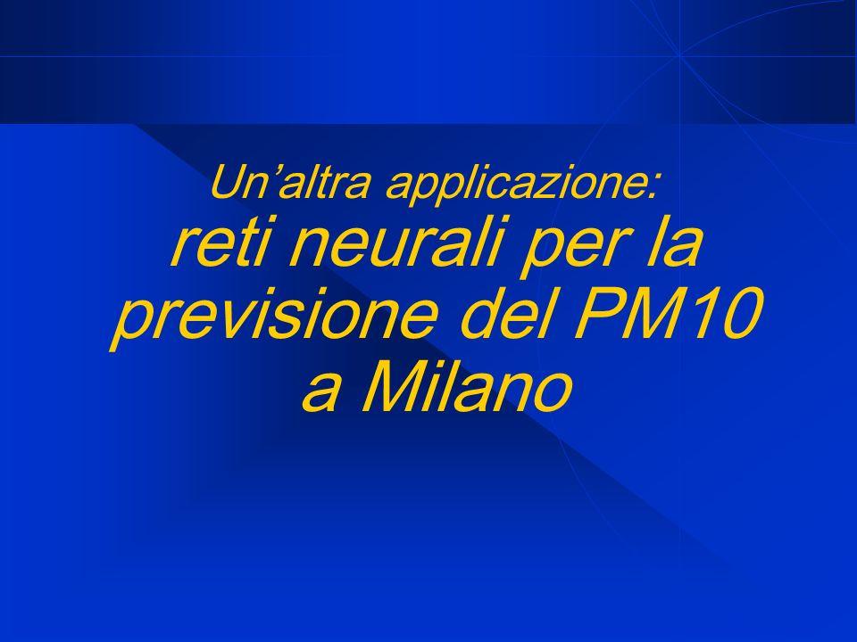 Un'altra applicazione: reti neurali per la previsione del PM10 a Milano