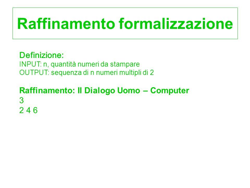 Raffinamento formalizzazione