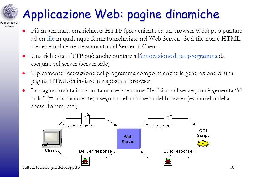 Applicazione Web: pagine dinamiche