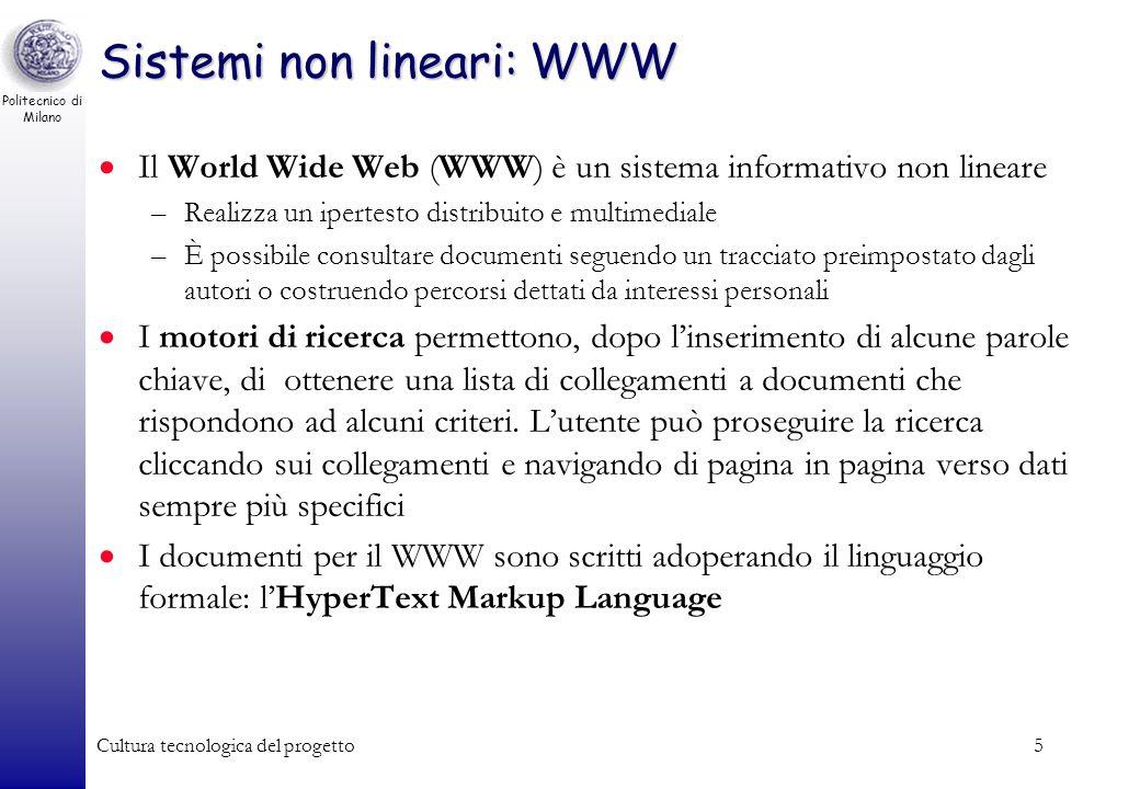 Sistemi non lineari: WWW