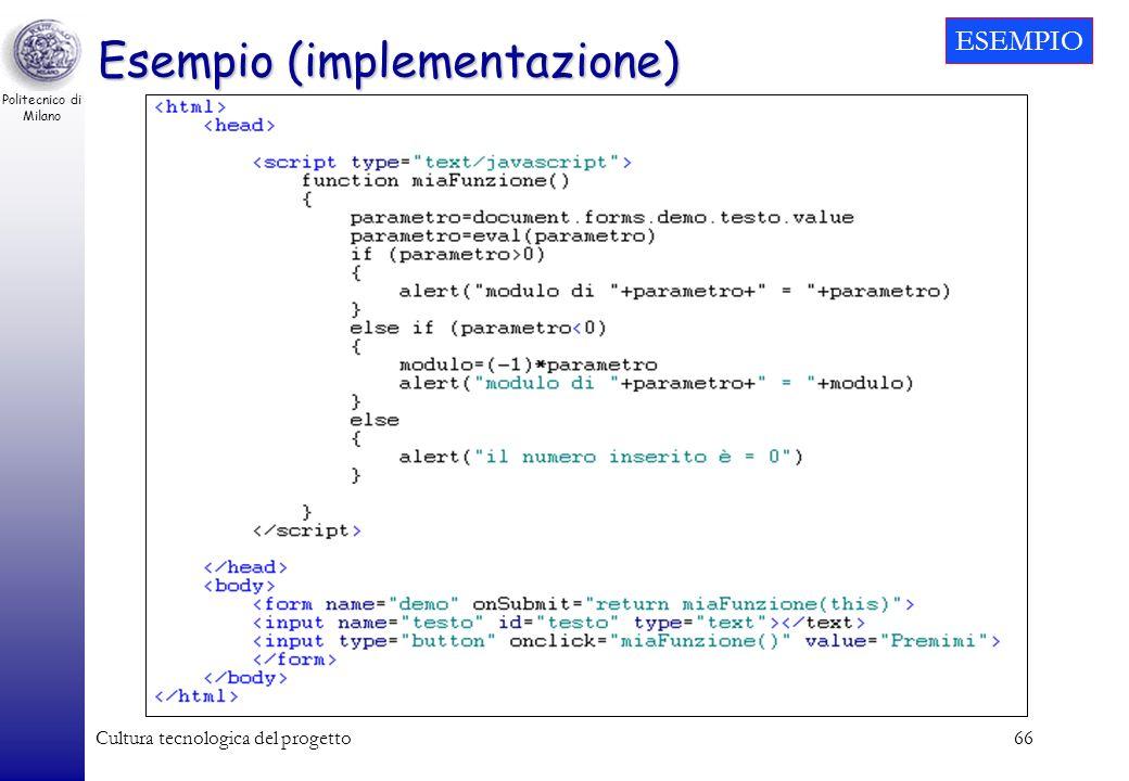 Esempio (implementazione)