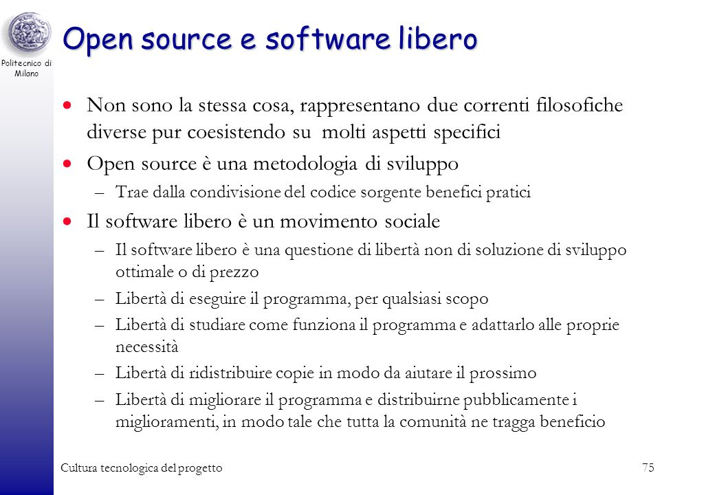 Open source e software libero