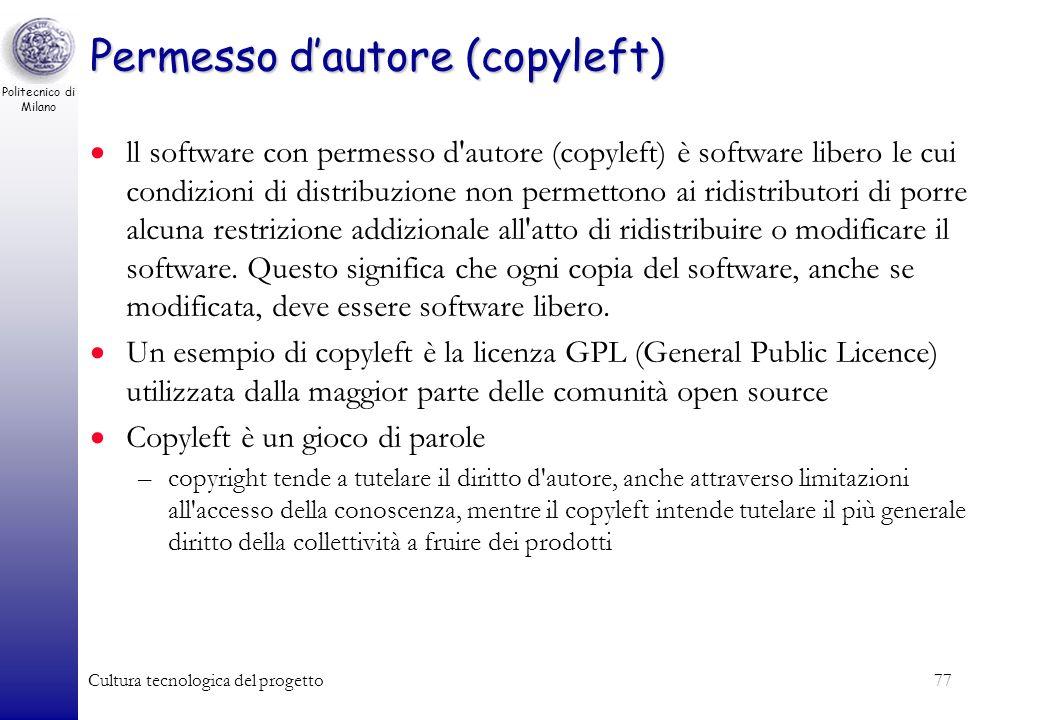 Permesso d'autore (copyleft)