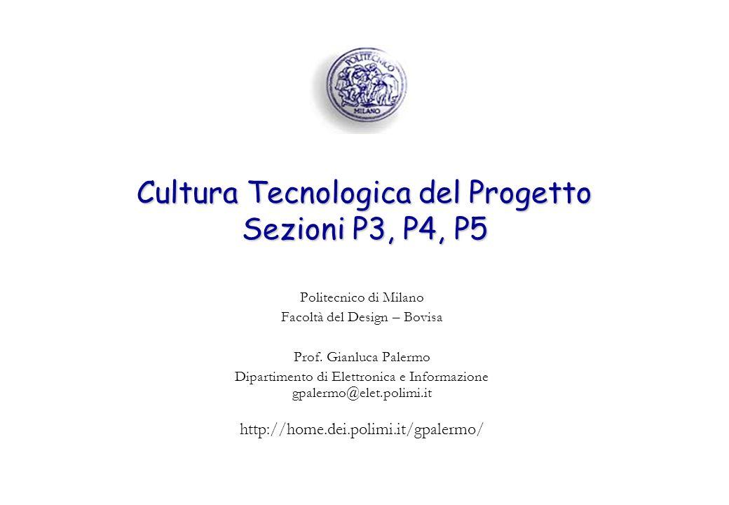 Cultura Tecnologica del Progetto Sezioni P3, P4, P5