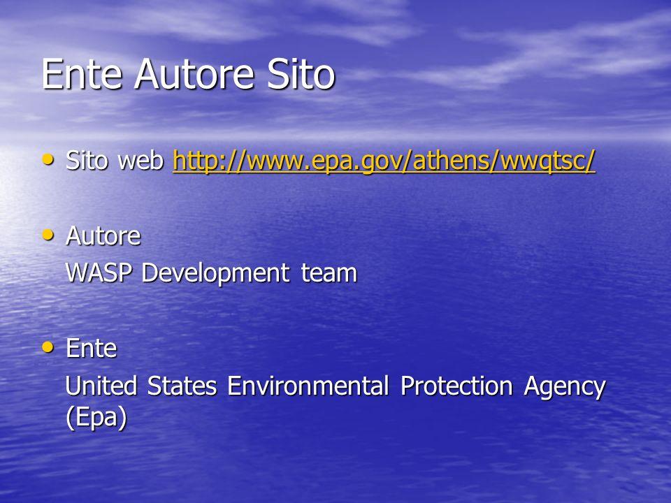 Ente Autore Sito Sito web http://www.epa.gov/athens/wwqtsc/ Autore