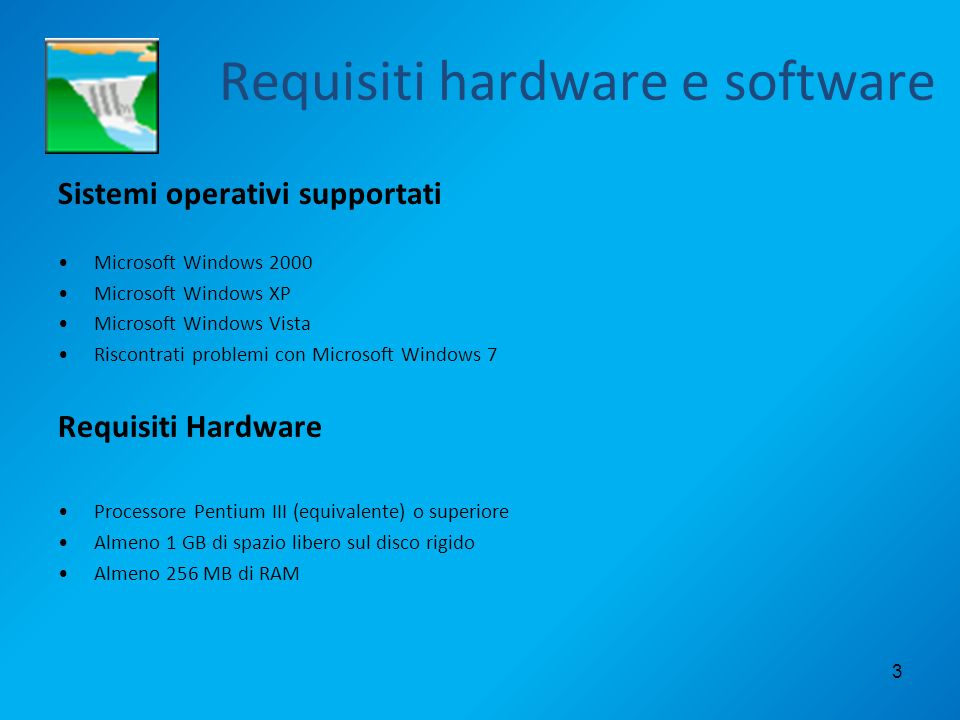 Requisiti hardware e software