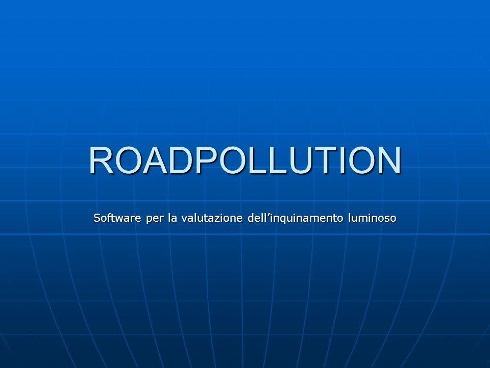 Software per la valutazione dell'inquinamento luminoso