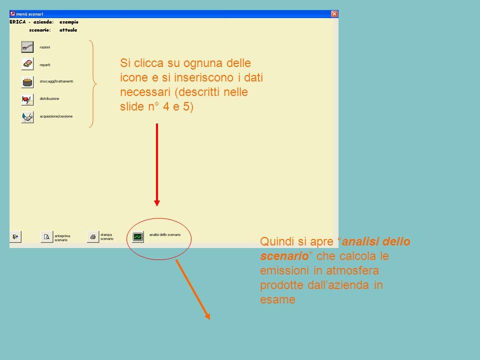 Si clicca su ognuna delle icone e si inseriscono i dati necessari (descritti nelle slide n° 4 e 5)