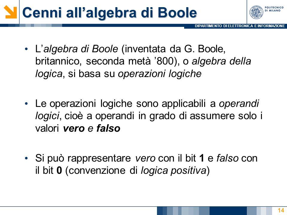 Cenni all'algebra di Boole