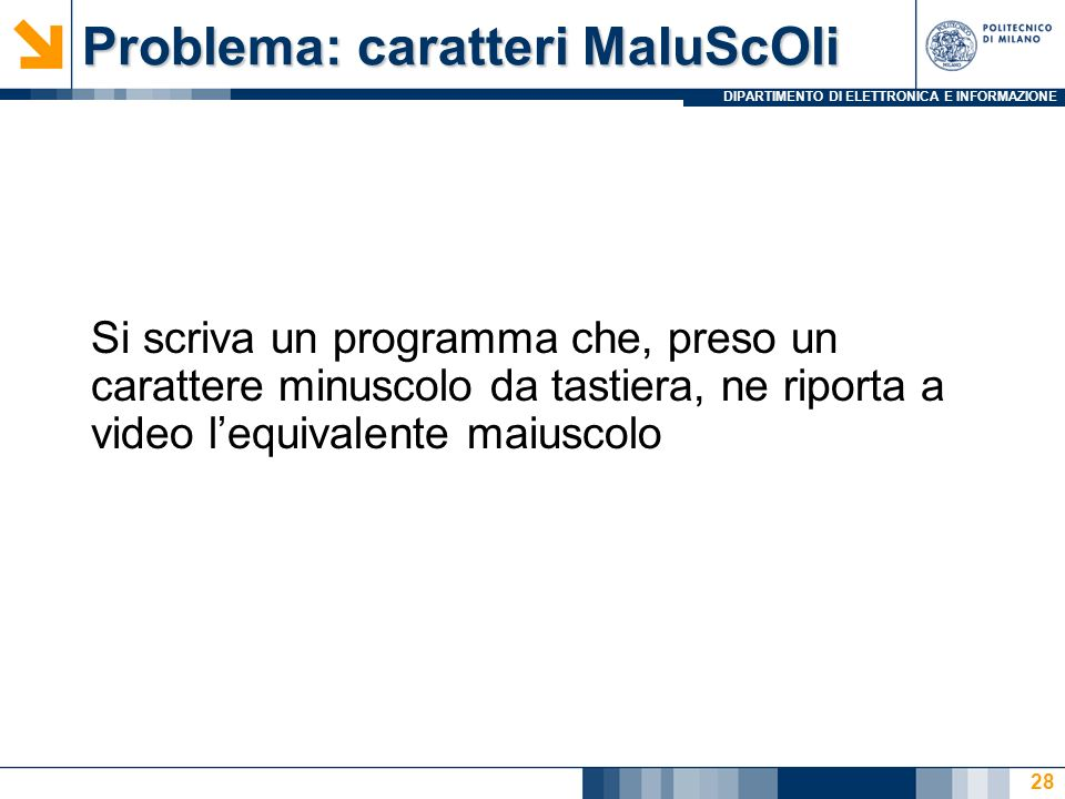 Problema: caratteri MaIuScOli
