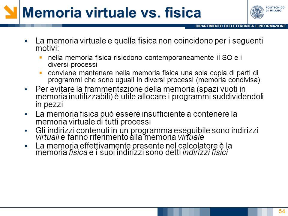 Memoria virtuale vs. fisica