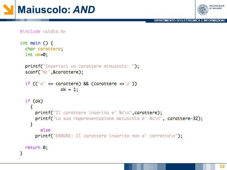 Maiuscolo: AND