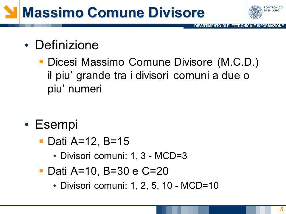 Massimo Comune Divisore