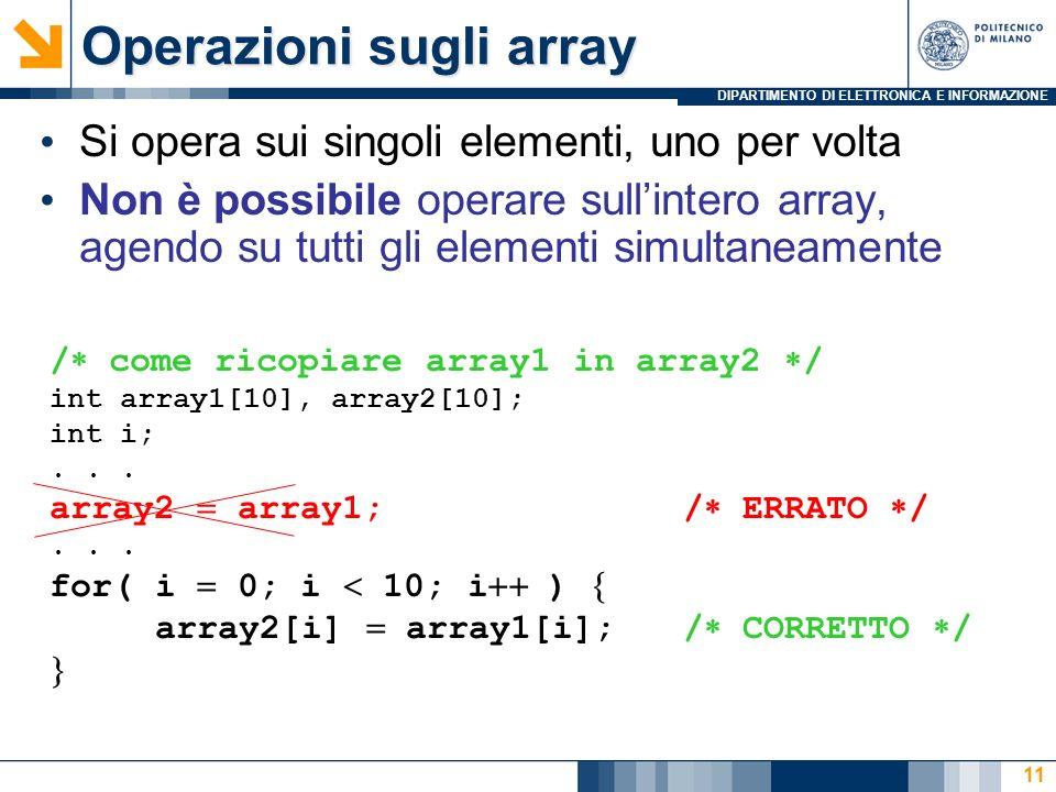 Operazioni sugli array