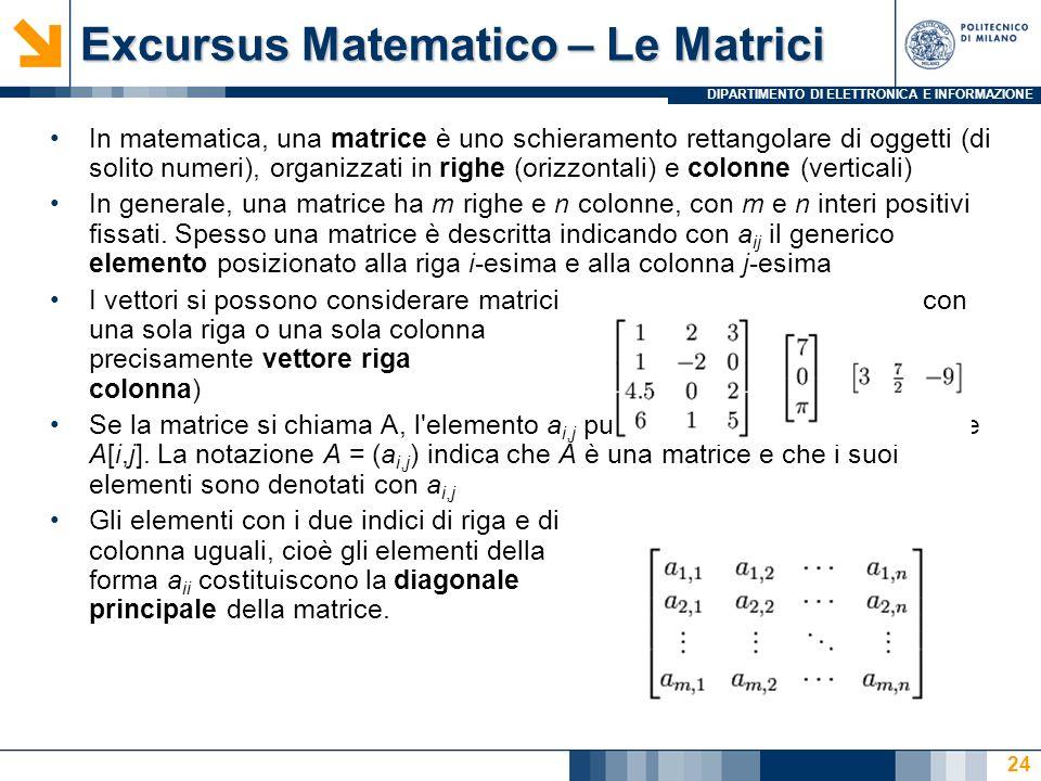 Excursus Matematico – Le Matrici