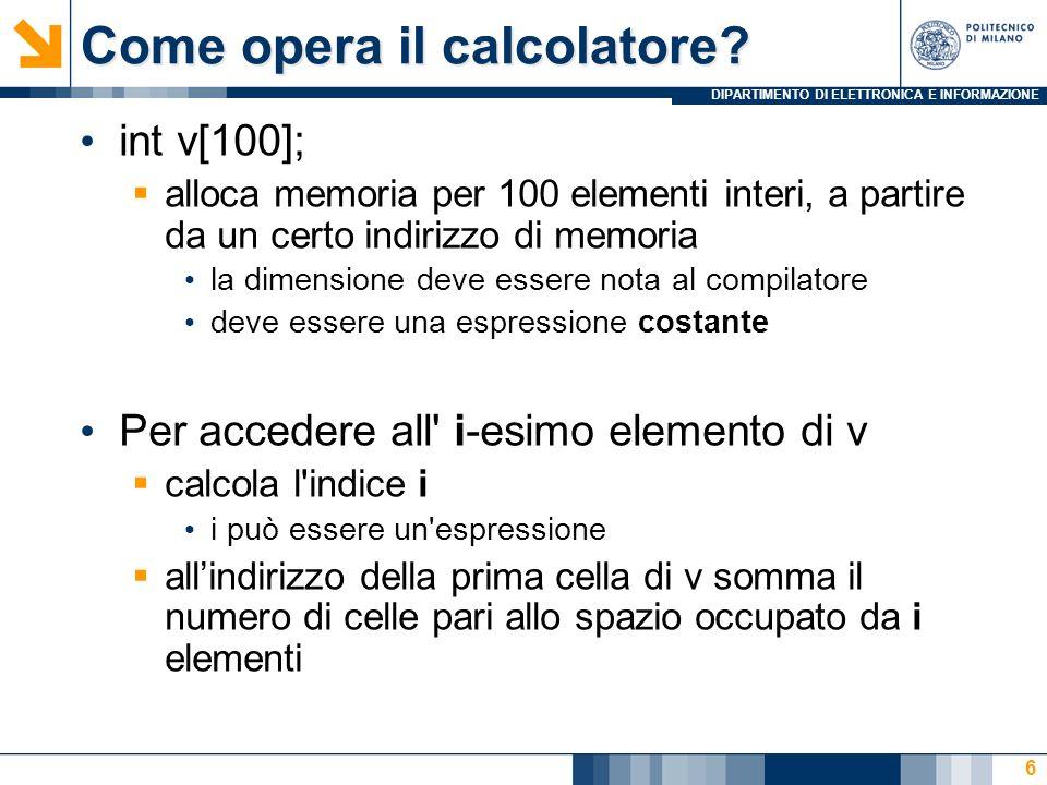 Come opera il calcolatore