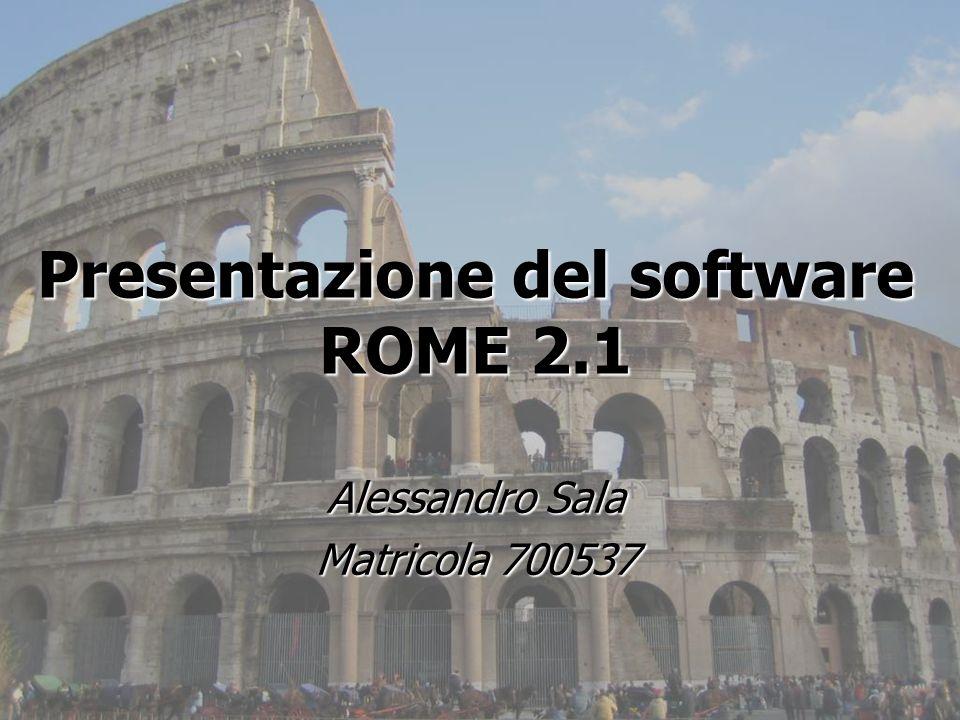 Presentazione del software ROME 2.1