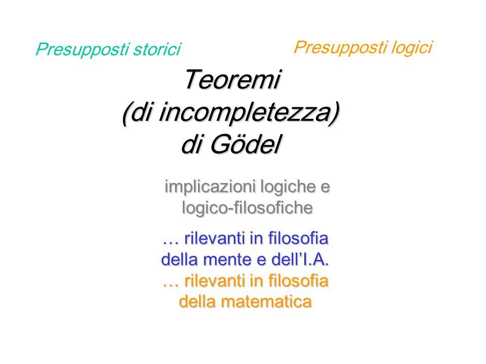 Teoremi (di incompletezza) di Gödel