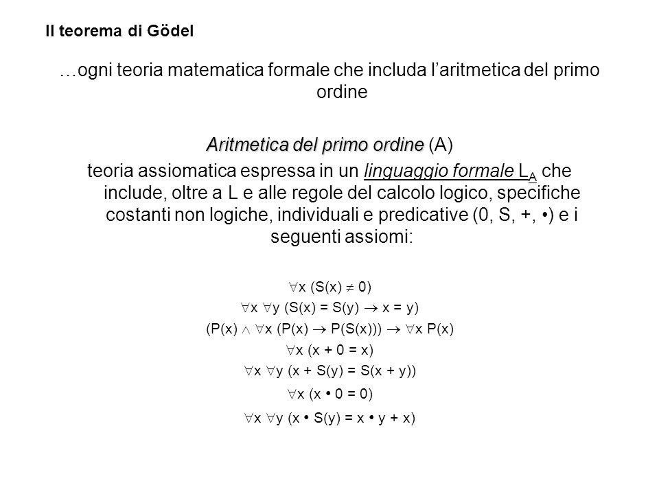 Aritmetica del primo ordine (A)