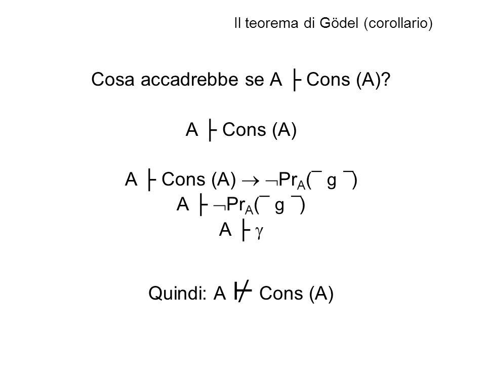 Il teorema di Gödel (corollario)