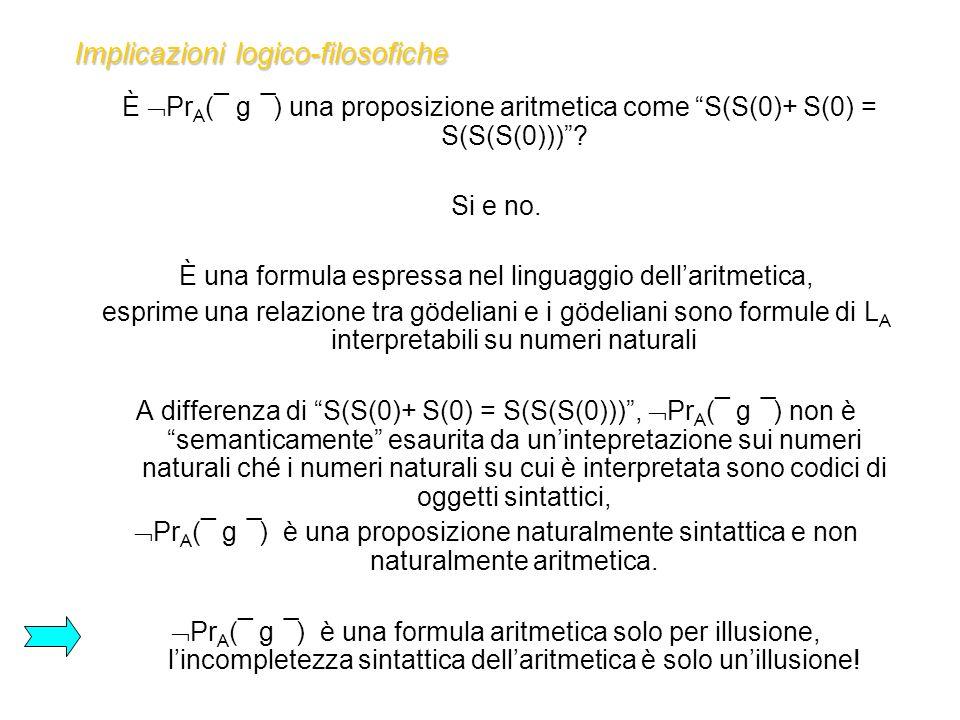 Implicazioni logico-filosofiche