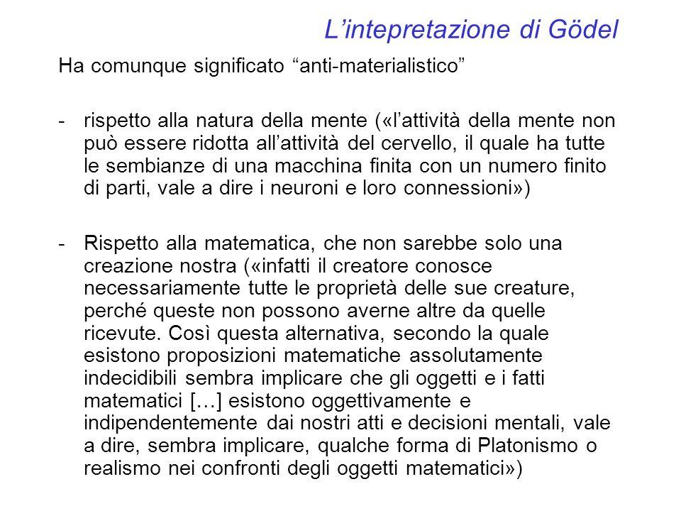 L'intepretazione di Gödel