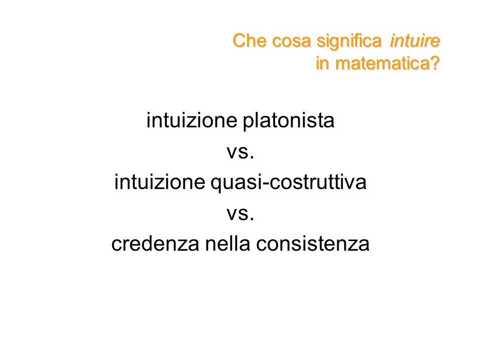 Che cosa significa intuire in matematica