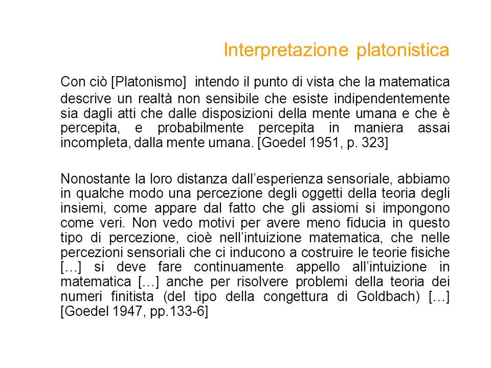 Interpretazione platonistica
