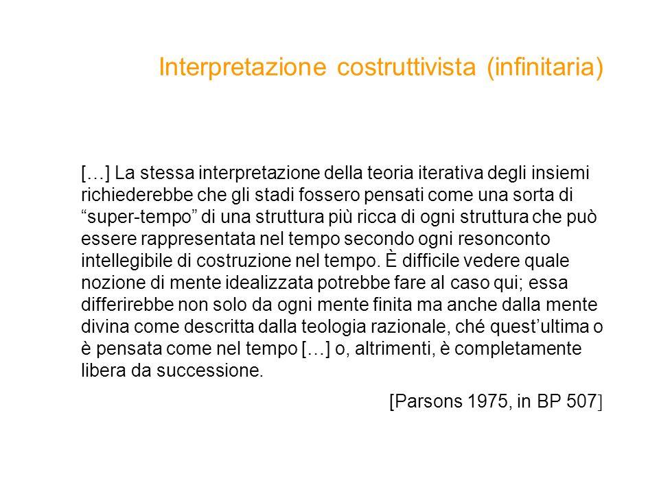 Interpretazione costruttivista (infinitaria)