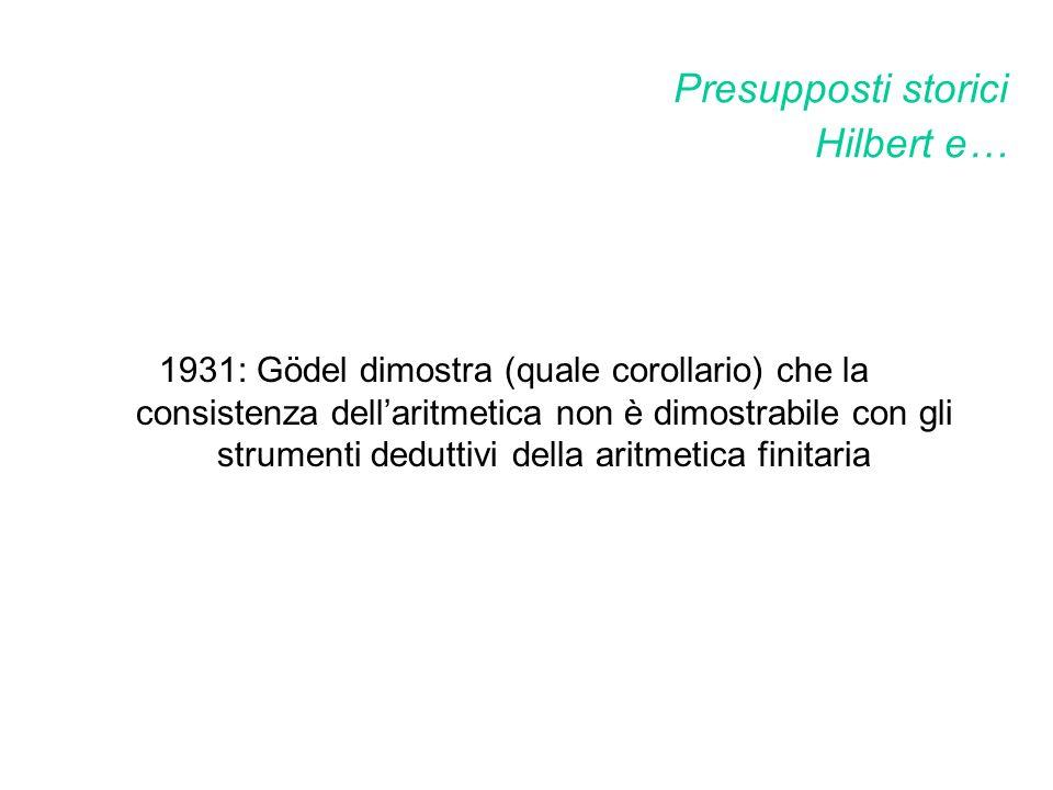 Presupposti storici Hilbert e…