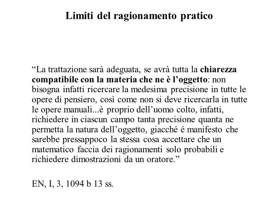 Limiti del ragionamento pratico
