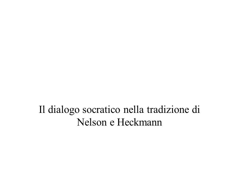 Il dialogo socratico nella tradizione di Nelson e Heckmann