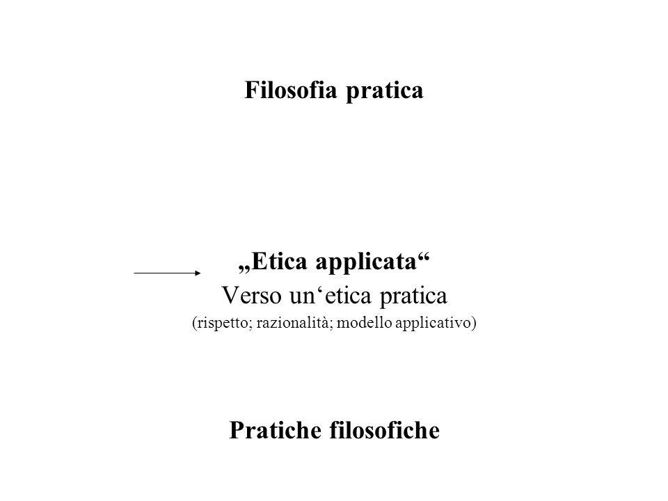 Filosofia pratica Pratiche filosofiche
