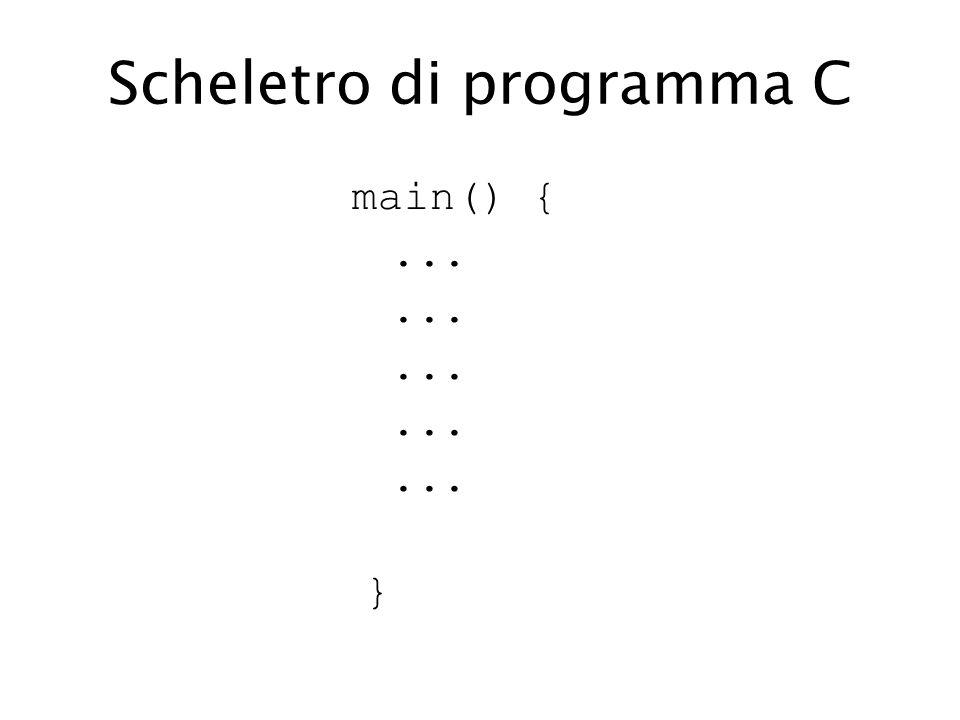 Scheletro di programma C