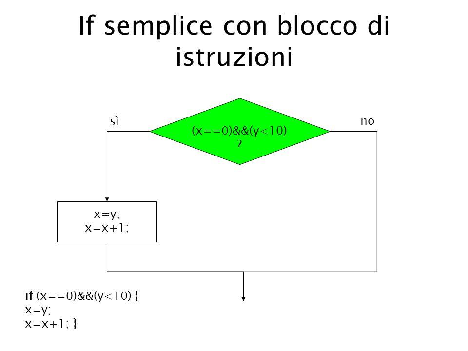 If semplice con blocco di istruzioni
