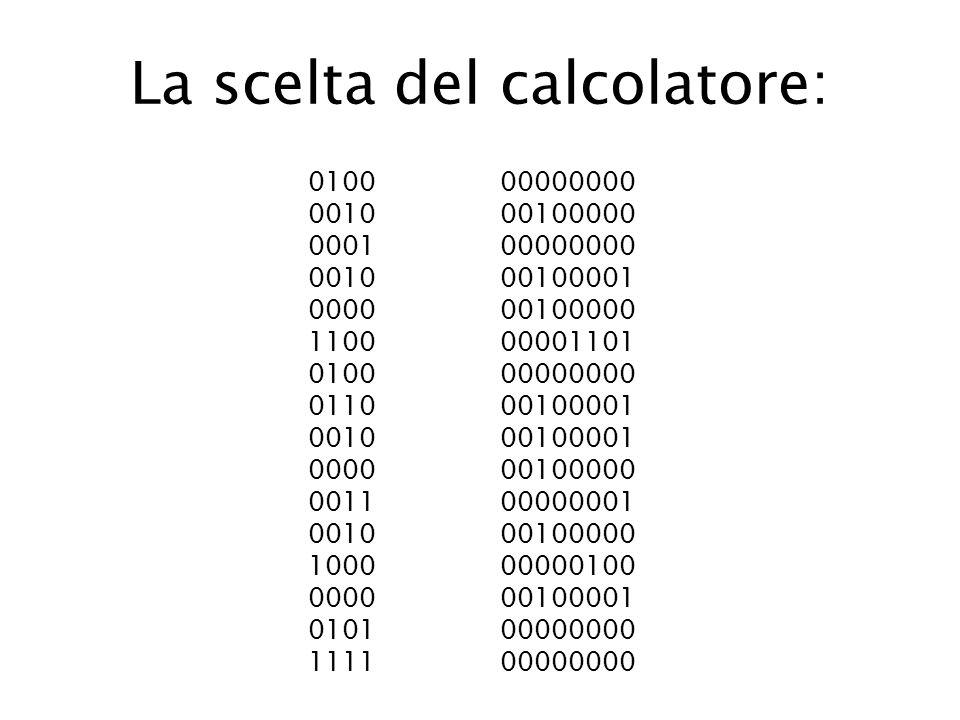La scelta del calcolatore: