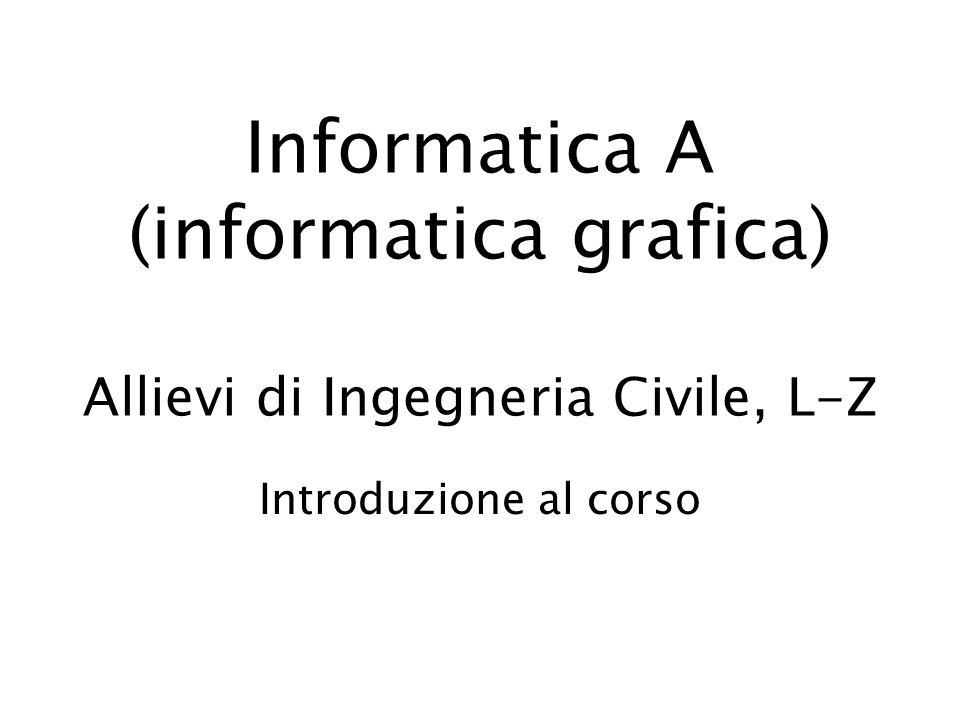 Informatica A (informatica grafica) Allievi di Ingegneria Civile, L-Z