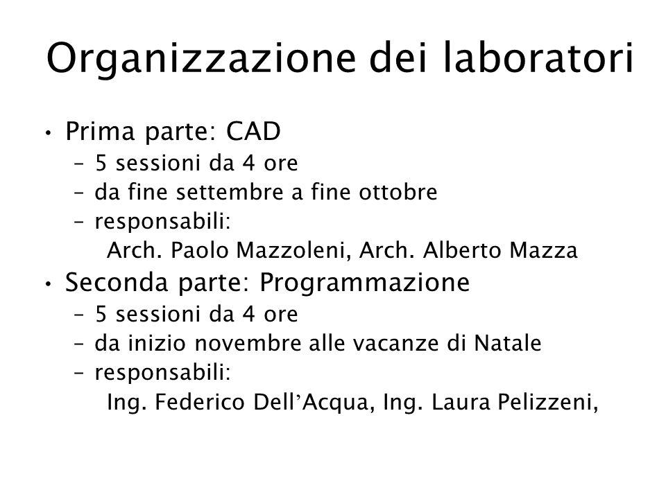 Organizzazione dei laboratori