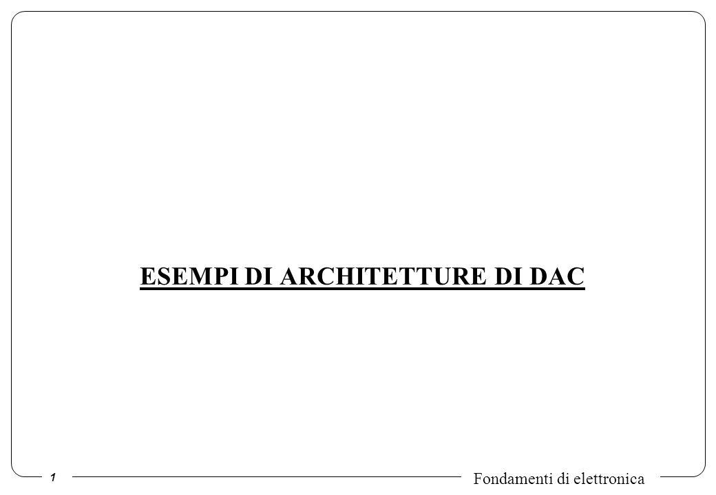 ESEMPI DI ARCHITETTURE DI DAC
