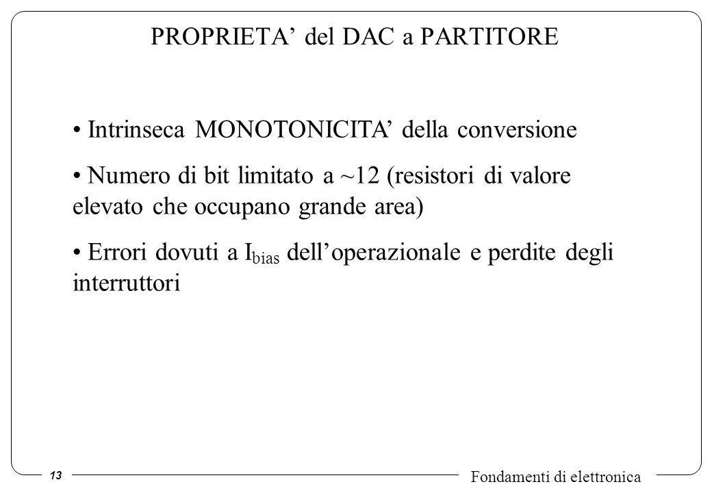 PROPRIETA' del DAC a PARTITORE
