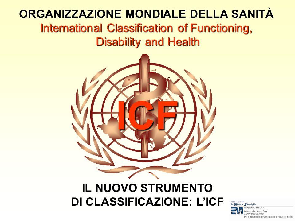DI CLASSIFICAZIONE: L'ICF