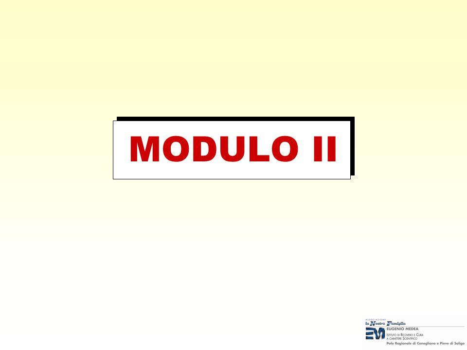 MODULO II Nota per il docente: