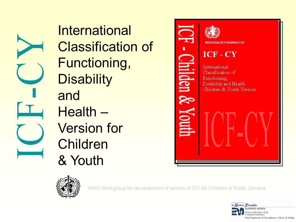 International Classification of Functioning, Disability and Health –