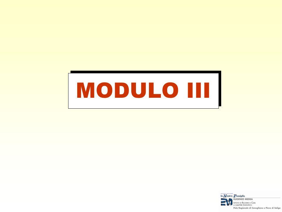 MODULO III Note per il docente: