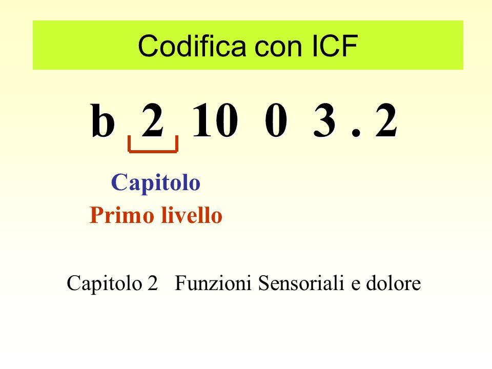 b 2 10 0 3 . 2 Codifica con ICF Capitolo Primo livello