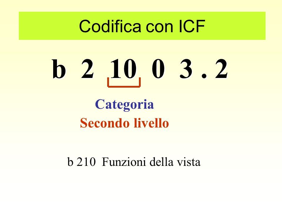 b 2 10 0 3 . 2 Codifica con ICF Categoria Secondo livello
