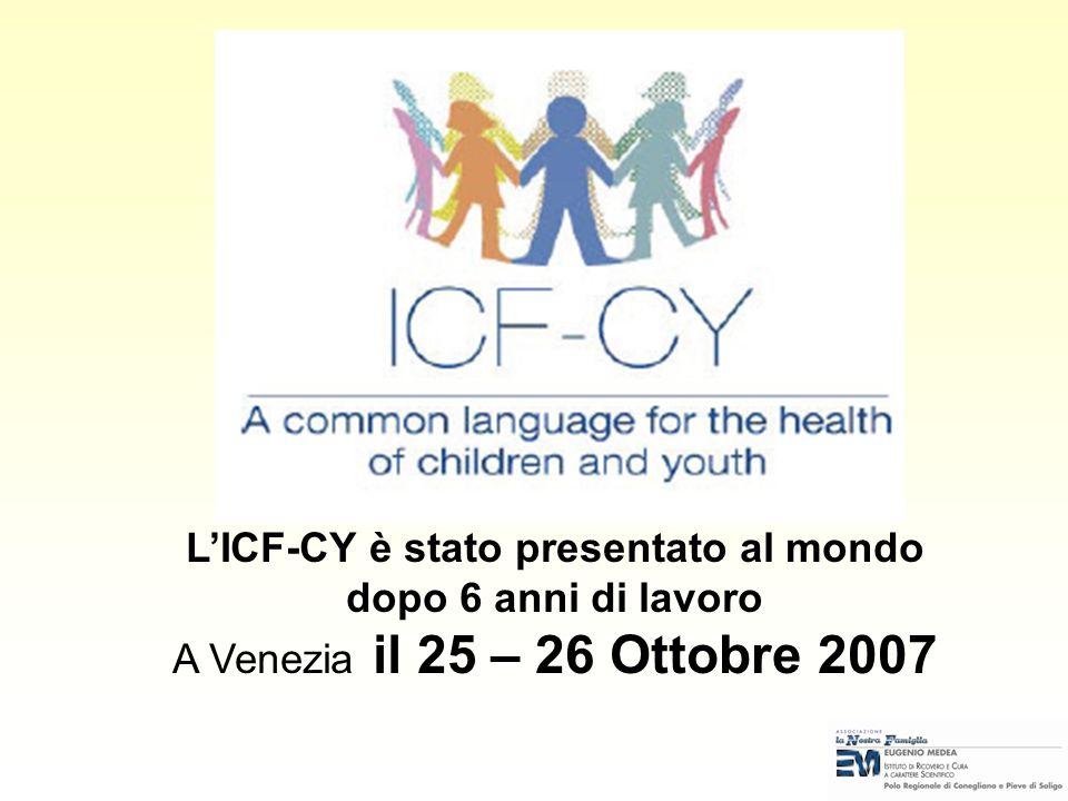 L'ICF-CY è stato presentato al mondo