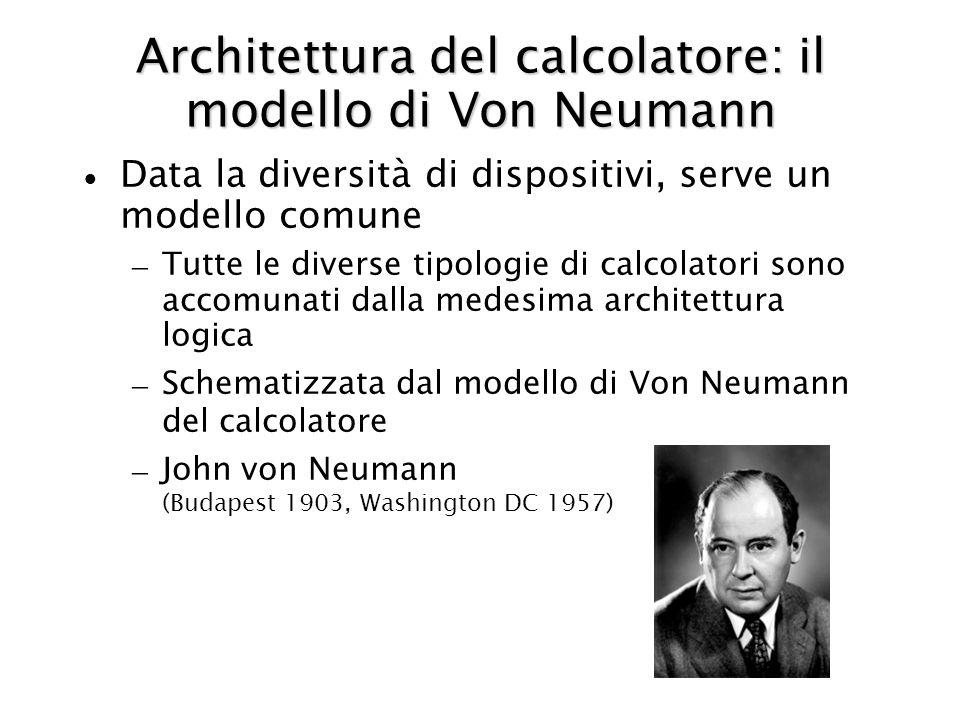 Architettura del calcolatore: il modello di Von Neumann