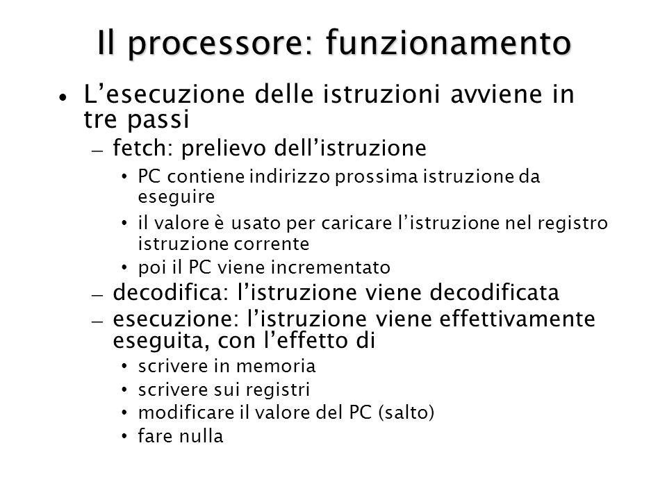 Il processore: funzionamento