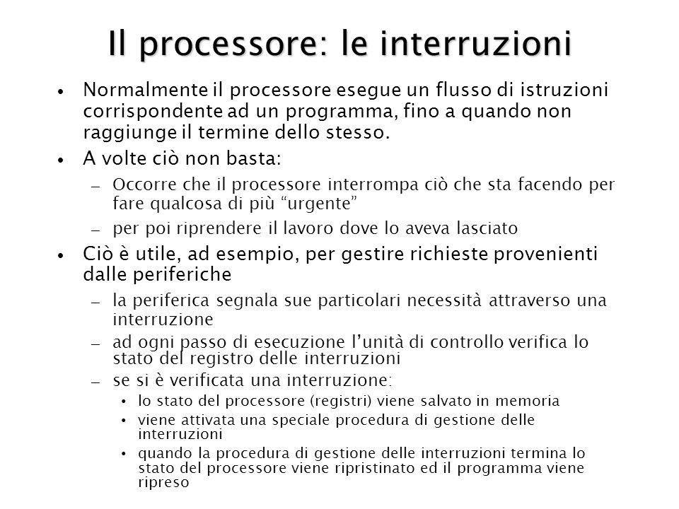 Il processore: le interruzioni
